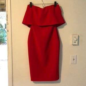 Likely Red Strapless Dress - Size 2